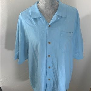 Tommy Bahama XL silk button down embroidered palms